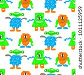 seamless vector pattern with... | Shutterstock .eps vector #1011125959