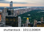 aerial view of central park at... | Shutterstock . vector #1011130804
