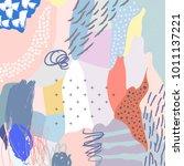 creative doodle art header with ...   Shutterstock .eps vector #1011137221