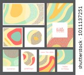 set of creative universal... | Shutterstock .eps vector #1011137251