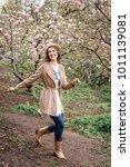 beautiful caucasian woman in...   Shutterstock . vector #1011139081