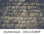 brick wall background with...   Shutterstock . vector #1011152809