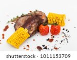 grilled porky neck stuffed with ...   Shutterstock . vector #1011153709