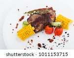 grilled porky neck stuffed with ...   Shutterstock . vector #1011153715
