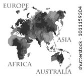 vector world map parts like... | Shutterstock .eps vector #1011159304