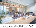 luxury interior design in...   Shutterstock . vector #1011161365