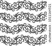 vintage seamless pattern.... | Shutterstock .eps vector #1011164521