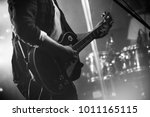 rock and roll music black and... | Shutterstock . vector #1011165115