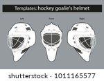template hockey goalie's helmet ... | Shutterstock .eps vector #1011165577