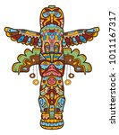 totem is an object and symbol... | Shutterstock .eps vector #1011167317