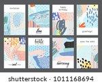 set of creative universal... | Shutterstock .eps vector #1011168694