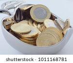 new saudi riyal and halalas...   Shutterstock . vector #1011168781