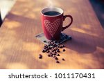 valentine's day for coffee... | Shutterstock . vector #1011170431