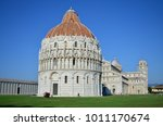 baptistry  cathedral  leaning... | Shutterstock . vector #1011170674
