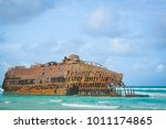 marine landscape with the...   Shutterstock . vector #1011174865