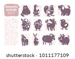vector collection of flat...   Shutterstock .eps vector #1011177109