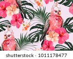 beautiful seamless vector... | Shutterstock .eps vector #1011178477
