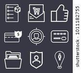 business outline vector icon... | Shutterstock .eps vector #1011182755
