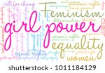 girl power word cloud on a... | Shutterstock .eps vector #1011184129