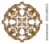 classical baroque vector set of ... | Shutterstock .eps vector #1011186511