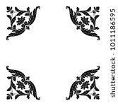 classical baroque vector set of ... | Shutterstock .eps vector #1011186595