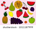 fruits icons. vector... | Shutterstock .eps vector #1011187999
