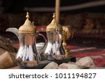 traditional arabic coffee pot ... | Shutterstock . vector #1011194827