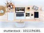 laptop  tablet and smartphone...   Shutterstock . vector #1011196381