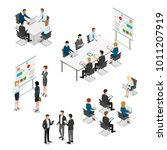 meeting room presentation team... | Shutterstock .eps vector #1011207919