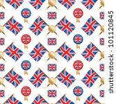 seamless pattern of union jack...   Shutterstock .eps vector #101120845