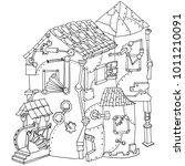 unusual building made of... | Shutterstock .eps vector #1011210091