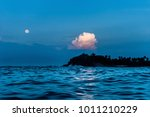 night seascape with the ocean... | Shutterstock . vector #1011210229