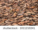background of old damaged roof... | Shutterstock . vector #1011210241