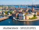 stockholm old town  gamla stan  ... | Shutterstock . vector #1011211921