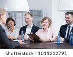 group of smiling recruiters... | Shutterstock . vector #1011212791