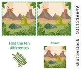 funny dinosaurs. find 10...   Shutterstock .eps vector #1011216649