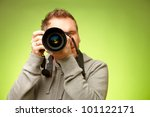 Male Photographer Taking Photo...
