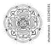 mandala hand drawn on paper ... | Shutterstock . vector #1011240181