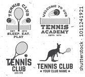 set of tennis club badges.... | Shutterstock .eps vector #1011241921