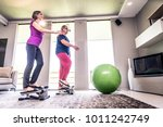 retired people at exercise...   Shutterstock . vector #1011242749