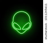 Neon Alien Face