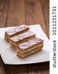 mille feuille pastry dessert... | Shutterstock . vector #1011251731
