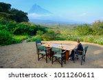breakfast at luxury camp... | Shutterstock . vector #1011260611