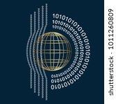 a logo for a computer company... | Shutterstock .eps vector #1011260809