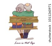 love is not age. happy couple... | Shutterstock .eps vector #1011260971