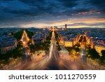 paris cityscape taken from arc... | Shutterstock . vector #1011270559
