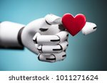 close up of a robot's hand... | Shutterstock . vector #1011271624