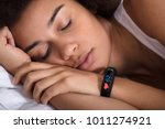 close up of smartwatch showing... | Shutterstock . vector #1011274921