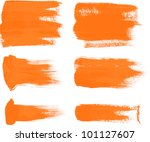 Orange Brush Strokes   The...