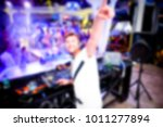 blurred for background club. dj ... | Shutterstock . vector #1011277894
